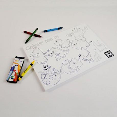 Dibujo para colorear dinosaurios