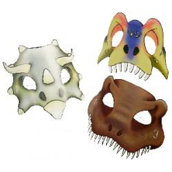 Mascaras de papel de dinosaurios 6 unidades