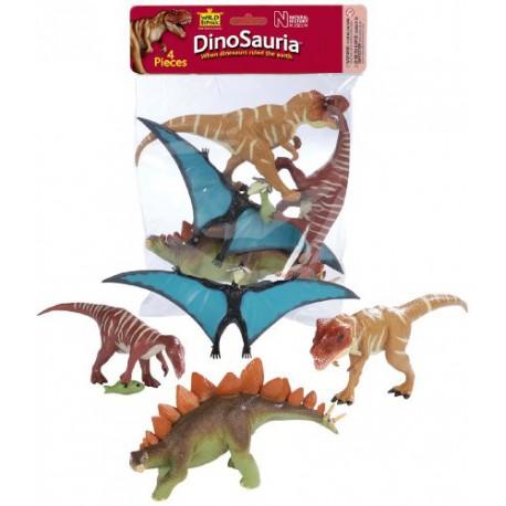 Bolsa de 4 dinosaurios Wild Republic