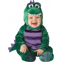 Disfraz de dinosaurio amoroso para bebe