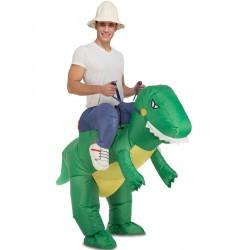 Disfraz de dinosaurio domado hinchable para adulto