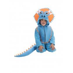 Disfraz de Triceratops azul infantil talla 5 - 6 años
