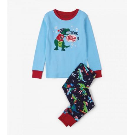 Pijama T-Rex Invierno de dos piezas Hatley
