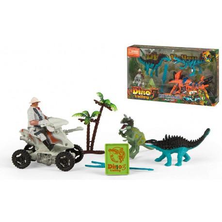 Set Dinosaurios y vehiculo