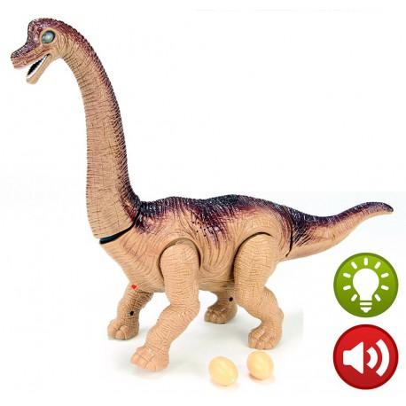 Brachiosaurio con luz y movimiento