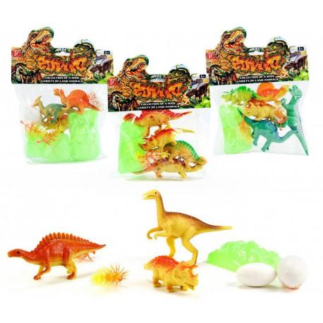 Bolsa con 3 o 5 dinosaurios