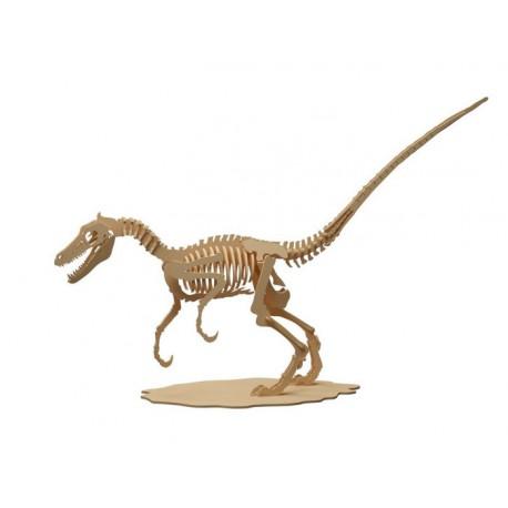 Maqueta de dinosaurio Velociraptor 48 cm x 17 cm x 31 cm