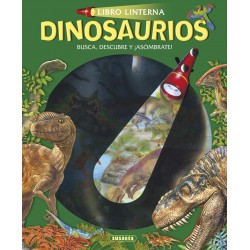 Libro Linterna, Dinosaurios, Busca, Encuentra y Diviertete
