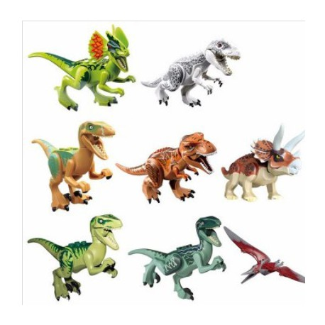Pack 8 Figuras de dinosaurio de diferentes especies