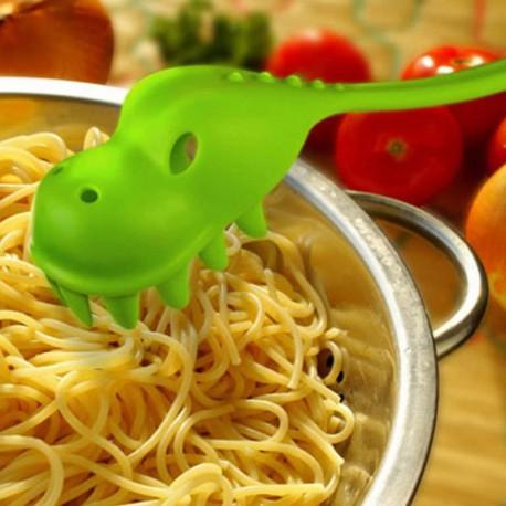 Cuchara de spaguettis dinosaurio