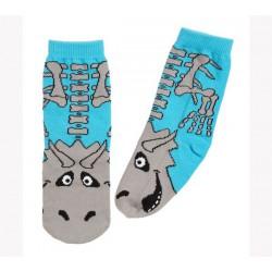 Calcetines de T-rex color azul y gris
