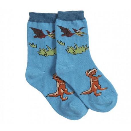 Calcetines de T-Rex y pteranodon - azul