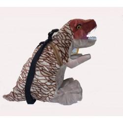 Mochila T-rex de peluche