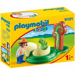 Playmobil 1.2.3 Explorador con huevo de dinosaurio