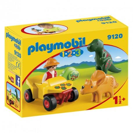 Quad con 2 Dinos Playmobil 1.2.3