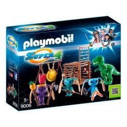 Guerrero Alien con Trampa T-Rex Playmobil Super 4