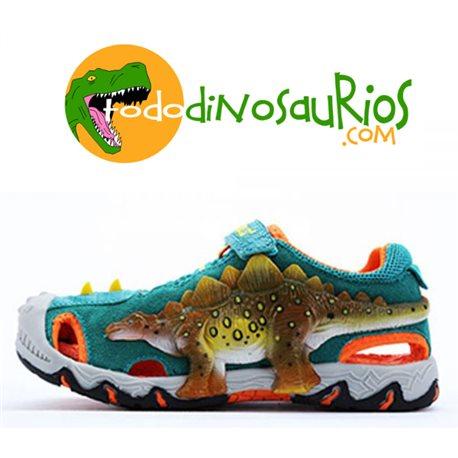 Dinosoles Sandalias 3d Stegosaurio