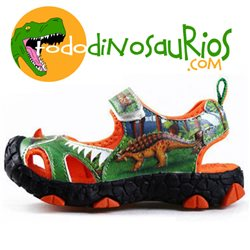 Dinosoles Sandalia Animation Stegosaurio verde