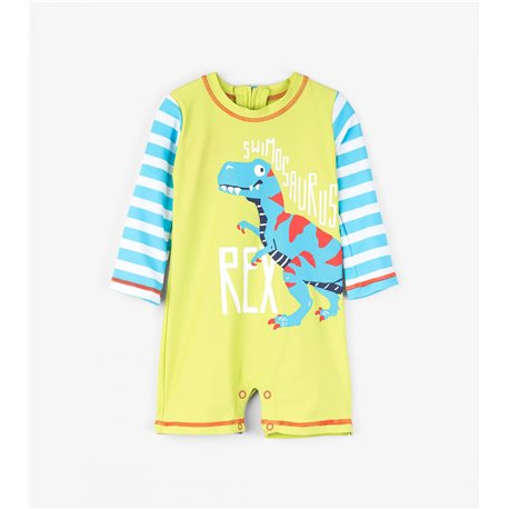 Hatley mono para bebé con protector solar T-rex