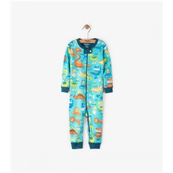 Hatley Pijama de Bebé de Algodón Orgánico Dinosaurios