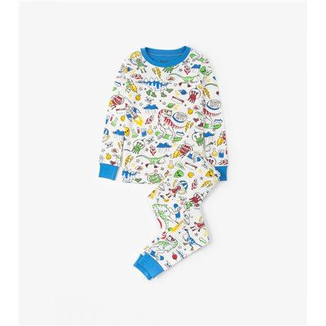 Hatley Pijama de Dinosaurios y Aliens