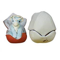 Marioneta de peluche en huevo Triceratops