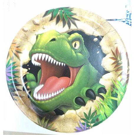 Plato de fiesta T-rex 4 unidades