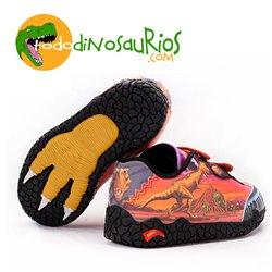 Zapatillas deportivas de Dinosaurio Tiranosaurio con luz