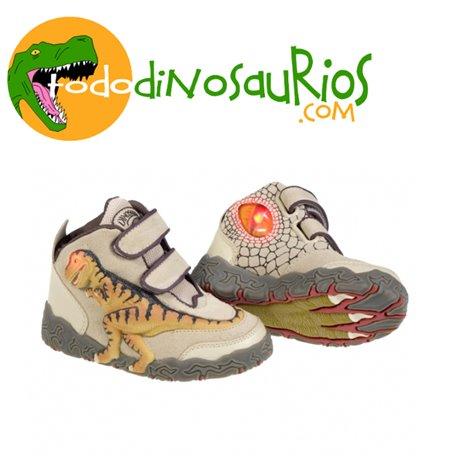 Botas de dinosaurio Tiranosaurio Rex Beige