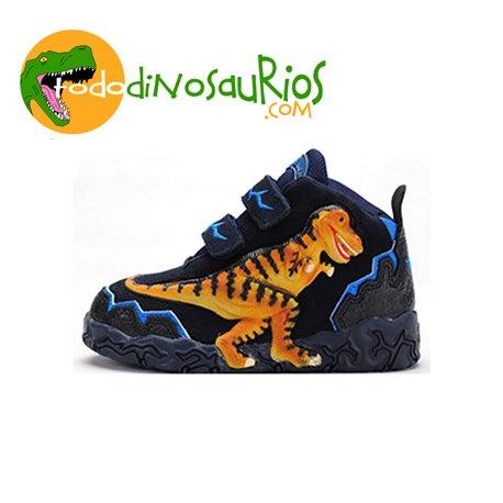 Botas de dinosaurio Tiranosaurio Rex azul
