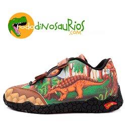 Zapatillas deportivas de Dinosaurio Anquilosaurio con luz