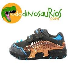 Zapatillas de Ankilosaurio azul con luz