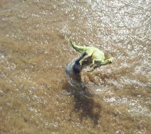 kronosaurus ataque mar