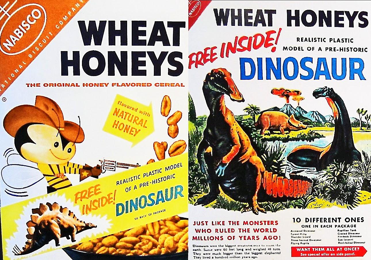 Cereales dinosaurio desayuno vintage