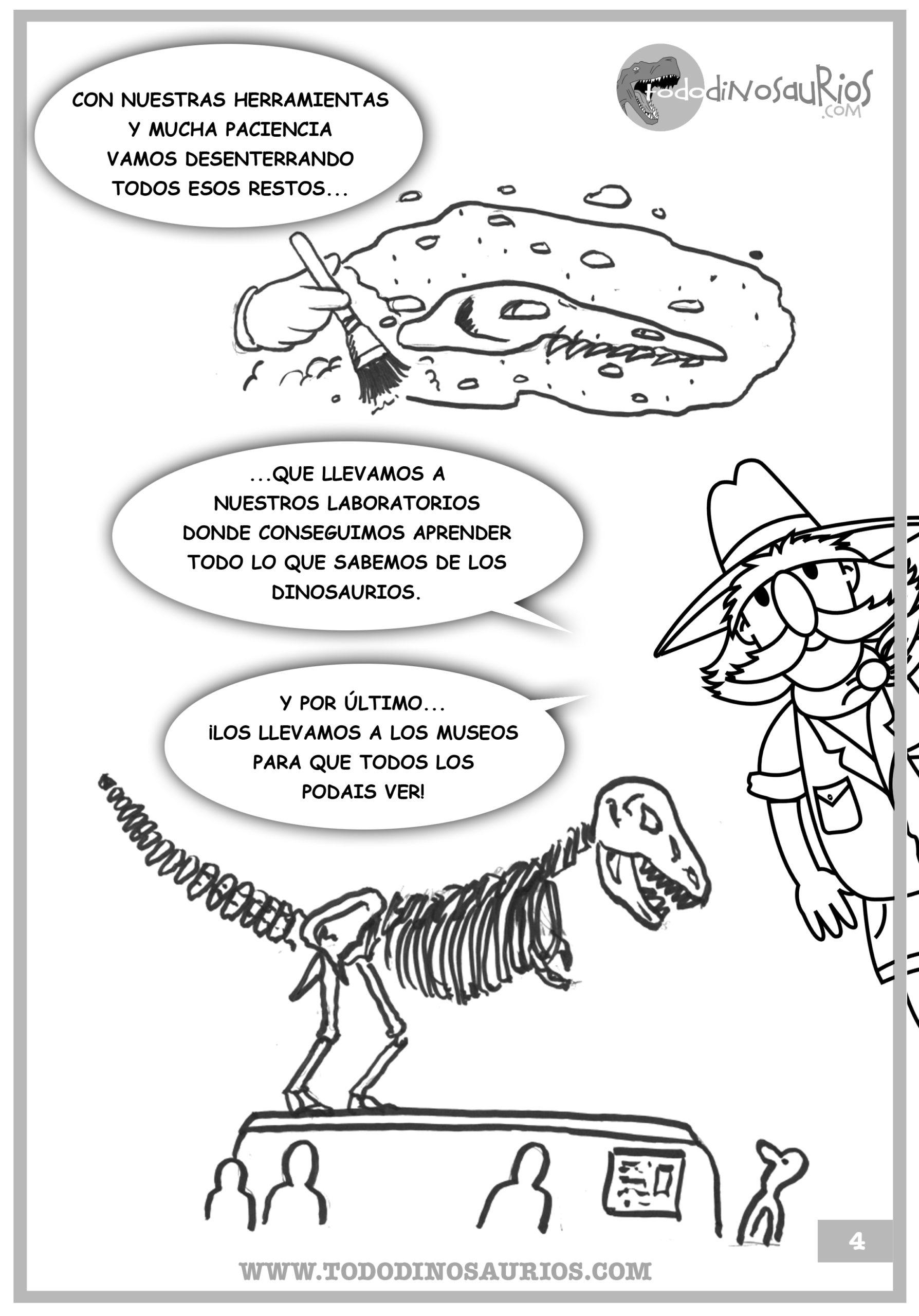 FIcha de dinosaurios para colorear