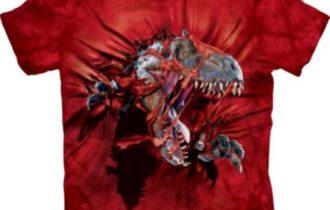 CAmiseta infantil de dinosaurios VElociraptor
