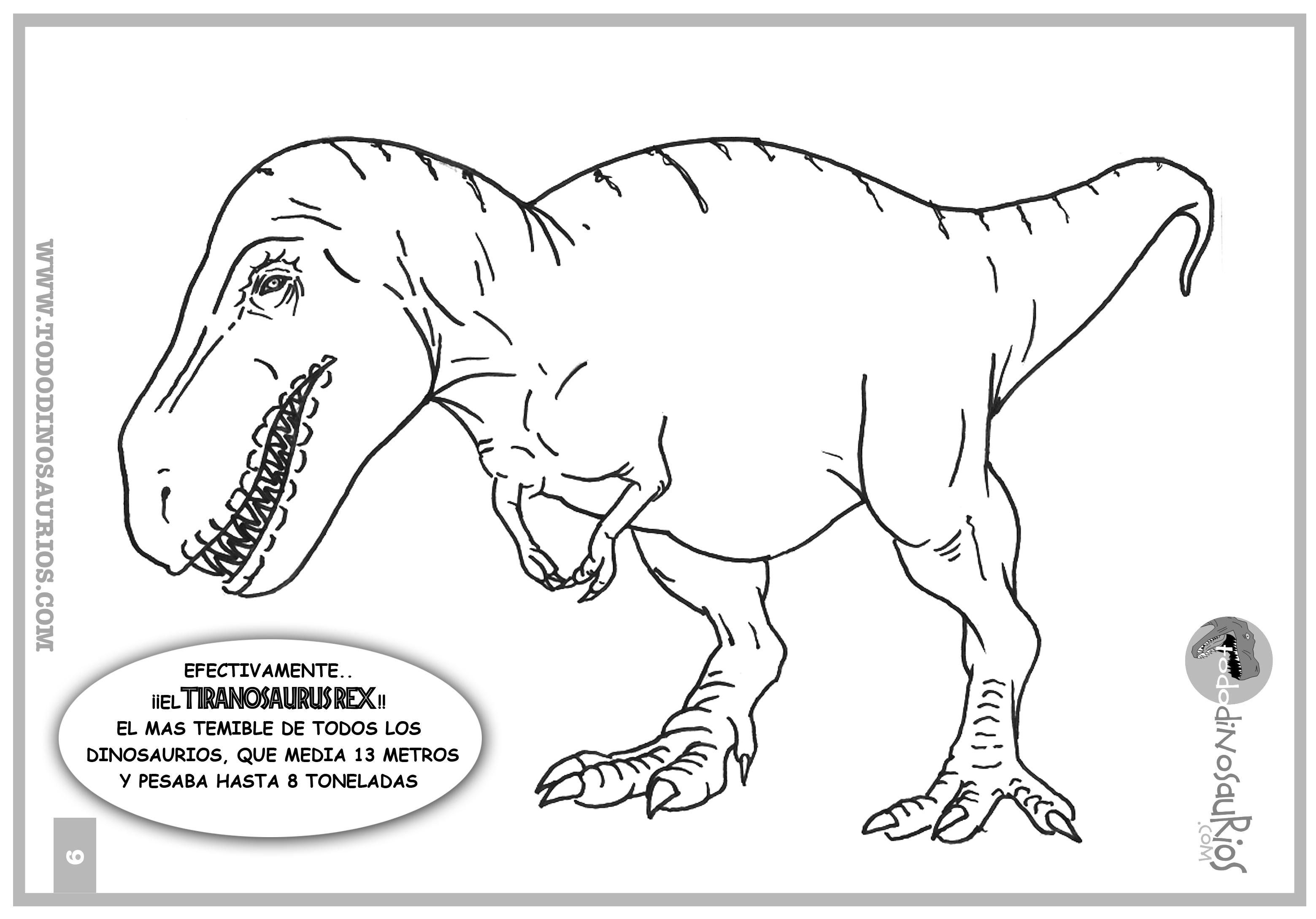 Dibujo De Dinosaurio Para Colorear Tiranosaurio Rex 2 Todo Sobre El Mundo De Los Dinosaurios 🦖¿no estás orgulloso cuando tu pequeño artista muestra un dibujo para colorear completado, su propia obra maestra? colorear tiranosaurio rex