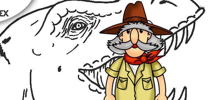 Dibujos de dinosaurios para colorear sobre el Tiranosaurio Rex.